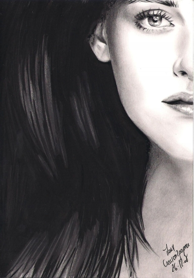 Kristen Stewart por crayon2papier